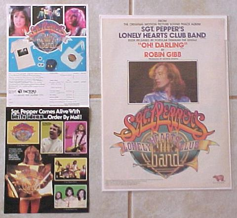 Beatles Bee Gees Sgt Pepper Album Flyers And Full Page Ad
